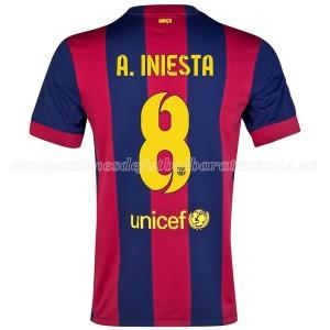 Camiseta de Barcelona 2014/2015 Primera A.Iniesta