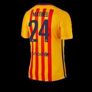 Camiseta nueva del Barcelona 2015/2016 Equipacion Numero 24 Mujer Segunda