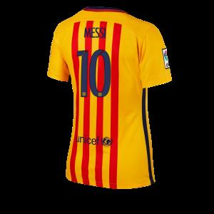 Camiseta de Barcelona 2015/2016 Segunda Numero 10 Equipacion Mujer