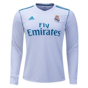 Camiseta nueva del Real Madrid 2017/2018 Long Sleeve Home