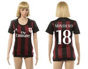 Camiseta nueva del AC Milan 2015/2016 18 Mujer