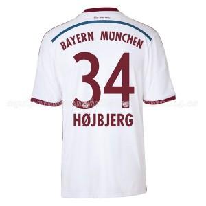 Camiseta nueva Bayern Munich Hojbjerg Equipacion Segunda 2014/2015