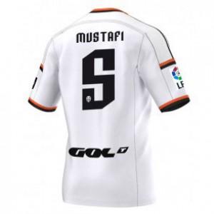 Camiseta nueva del Valencia 2014/2015 Equipacion Shkodran Mustafi Primera