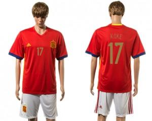 Camiseta nueva del España 2015-2016 17#