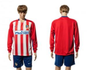 Camiseta nueva del Atletico Madrid 15/16 Manga Larga Primera