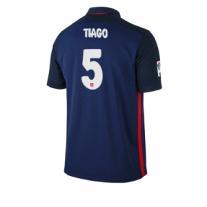 Camiseta Atletico Madrid TIAGO Segunda Equipacion 2015/2016