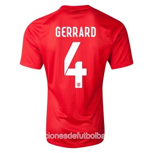Camiseta Inglaterra de la Seleccion Gerrard Segunda WC2014