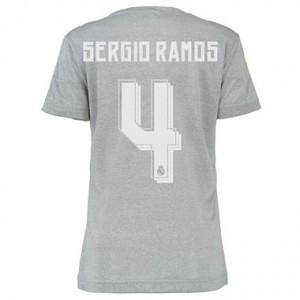 Camiseta nueva Real Madrid Mujer SERGIO R Equipacion Segunda 2015/2016
