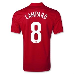 Camiseta Inglaterra de la Seleccion Lampard Segunda 2013/2014