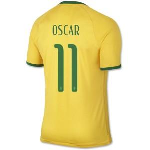 Camiseta del Oscar Brasil de la Seleccion Primera WC2014