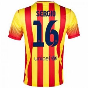 Camiseta del Sergio Barcelona Segunda Equipacion 2013/2014
