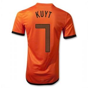 Camiseta Holanda de la Seleccion Kuyt Primera 2012/2014