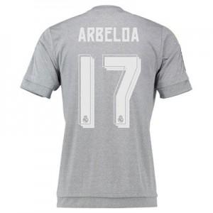 Camiseta del Numero 17 ARBE Real Madrid Segunda Equipacion 2015/2016