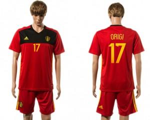 Camiseta de Belgium 2015-2016 17#