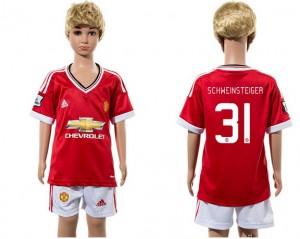 Camiseta nueva Manchester United Niños 31 2015/2016