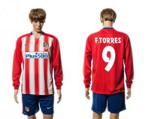 Camiseta de Atletico Madrid 15/16 Primera 9# Manga Larga