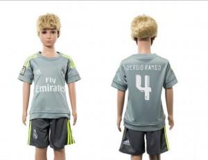 Niños Camiseta del 4 Real Madrid Away 2015/2016