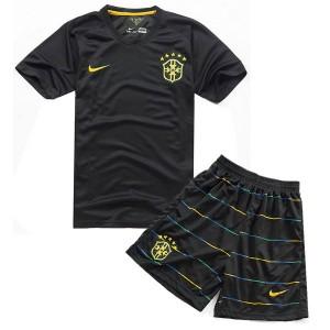 Camiseta Brasil de la Seleccion Tercera WC2014 Nino