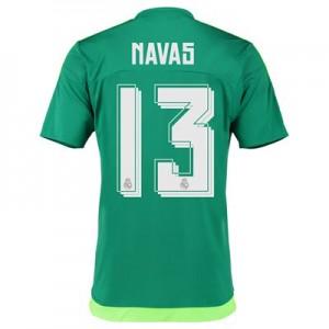 Camiseta nueva Real Madrid Numero 13 NAVA Equipacion Segunda 2015/2016