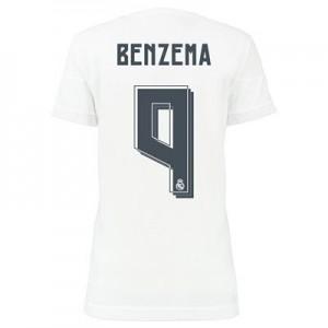 Camiseta nueva Real Madrid Mujer BENZEMA Equipacion Primera 2015/2016