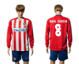 Camiseta Atletico Madrid 8# Primera Manga Larga 15/16
