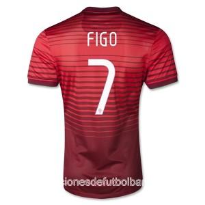 Camiseta Portugal de la Seleccion Figo Primera 2013/2014