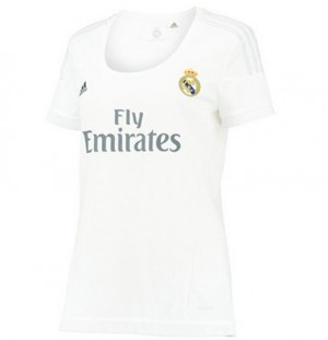 Camiseta Real Madrid Primera Equipacion Tailandia 2015/2016 Mujer