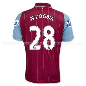 Camiseta nueva Aston Villa N_Zogbia Equipacion Primera 2014/15
