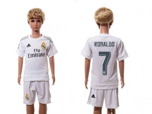 Niños Camiseta del 7 Real Madrid Home 2015/2016