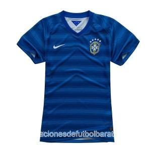 Camiseta nueva del Brasil de la Seleccion WC2014 Mujer Segunda