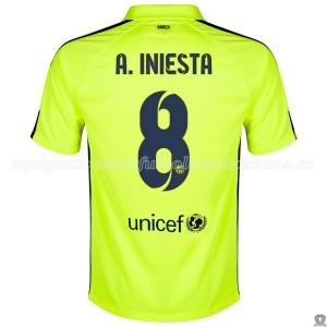 Camiseta nueva del Barcelona 2014/2015 A.Iniesta Tercera
