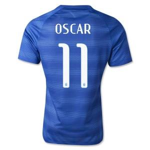 Camiseta de Brasil de la Seleccion WC2014 Segunda Oscar