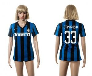 Camiseta Inter Milan 33 2015/2016 Mujer