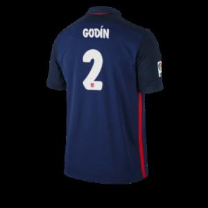 Camiseta del GODIN Atletico Madrid Segunda Equipacion 2015/2016