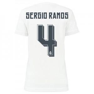 Camiseta nueva Real Madrid Mujer SERGIO R Equipacion Primera 2015/2016