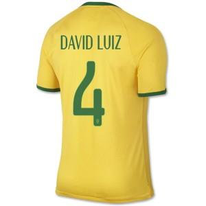 Camiseta nueva del Brasil de la Seleccion WC2014 David Luiz Primera
