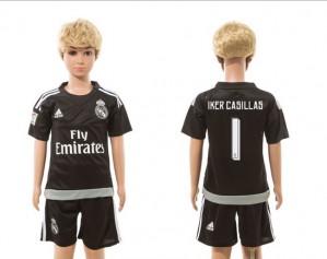 Camiseta nueva Real Madrid Niños goalkeeper 01 2015/2016