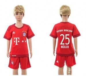 Camiseta Bayern Munich 25 Home 2015/2016 Niños