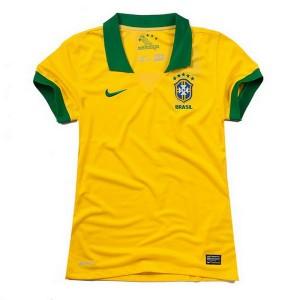 Camiseta nueva del Brasil de la Seleccion 2013/2014 Mujer Primera