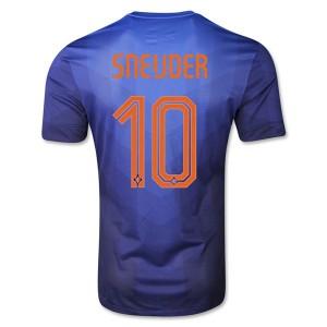 Camiseta Holanda de la Seleccion Sneijder Segunda WC2014