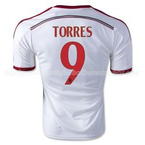 Camiseta del Torres AC Milan Segunda Equipacion 2014/2015